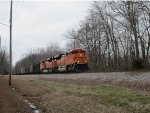 BNSF 9056 leads another trainload of coal east