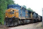 CSX 565 & 7607 lead empty rock cars north
