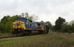 CSX 7674 leaves the Andrews sub onto the A line