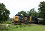 CSX 6964 & 2364 lead train F739 past the SH 293 mp