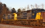 CSX 256 & 7389 lead train W089 northbound late in the afternoon