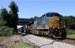 CSX 926 & 911 lead a loaded coal train southbound