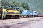 driftwood meet with lycoming valley and a conrail loaded coal train