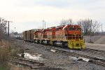 Coming off the Coach Lead, Z151 rools through Plaster Creek as it starts back toward home rails