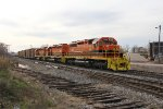 MQT 3408 leads the 3407 & 3406 as Z151 departs Wyoming Yard