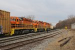 All three of MQT newer SD40's head away on the Sunnyside Lead with Z151