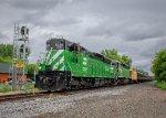 Arriving CN rails