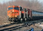 BNSF 6845 on the move
