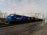 The Conrail Heritage Unit at 16th Street, leading the 16N