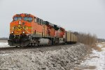 BNSF 5731 Leads a empty coal train up the K line.