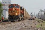 BNSF 5532 Leads a rack train through Old Monroe Mo.