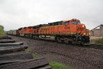 BNSF 6098 Rolls a coal load to a crawl in Old Monroe Mo.