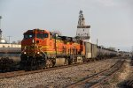 BNSF 4308 Leads a empty Oil can through Old Monroe Mo.