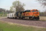 BNSF 6127 Leads the Galmem southbound past Burns Siding.