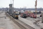 CSX 64 And other's work around the Trra yard in Madison IL.
