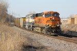 BNSF 6334 Leads a coal load down the BNSF Hannibal Sub.