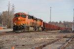 BNSF 8291 Rolls a rock train down the Hannibal Sub.