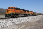 BNSF 6427 Roars South with a loaded coal drag.
