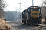 CSX C711 in Valley Cottage - 1/2/2015