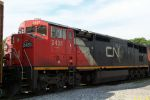 CN 2431 uses wye track to enter Harbor trackage