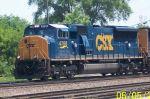 New SD70 leads CSX train towards Barr Yard