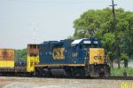 Solo engine leads train west