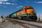 BNSF 2957 and 2138 Eastbound, pick up cars on the Ravenna Sub