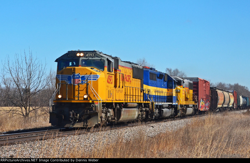 UP 4593, CP's   Tomah  Sub.