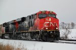 CN 2843 approaching Church Rd. with the SB oil cans