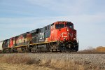 CN 2250 leads a southbound sand train