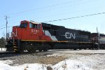 CN 5791 crosses Green Road leading a northbound manifest