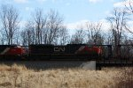 CN 8900 leads a southbound intermodal past a waiting M347
