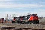 CN 2176 leads a northbound intermodal