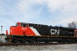 After meeting 2176's train, CN 2937 leads a SB manifest with a sequentially numbered sister