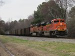 BNSF 9298 leads on this Eb coal train