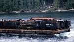 White Pass 71 on a Barge - 1977
