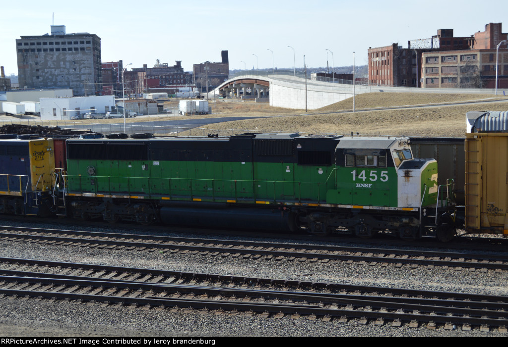 BNSF 1455  on a transfer  going to argentine