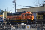 BNSF 2818  fresh painted at mid america car