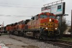 BNSF 4837, BNSF 6750, and BNSF 7274