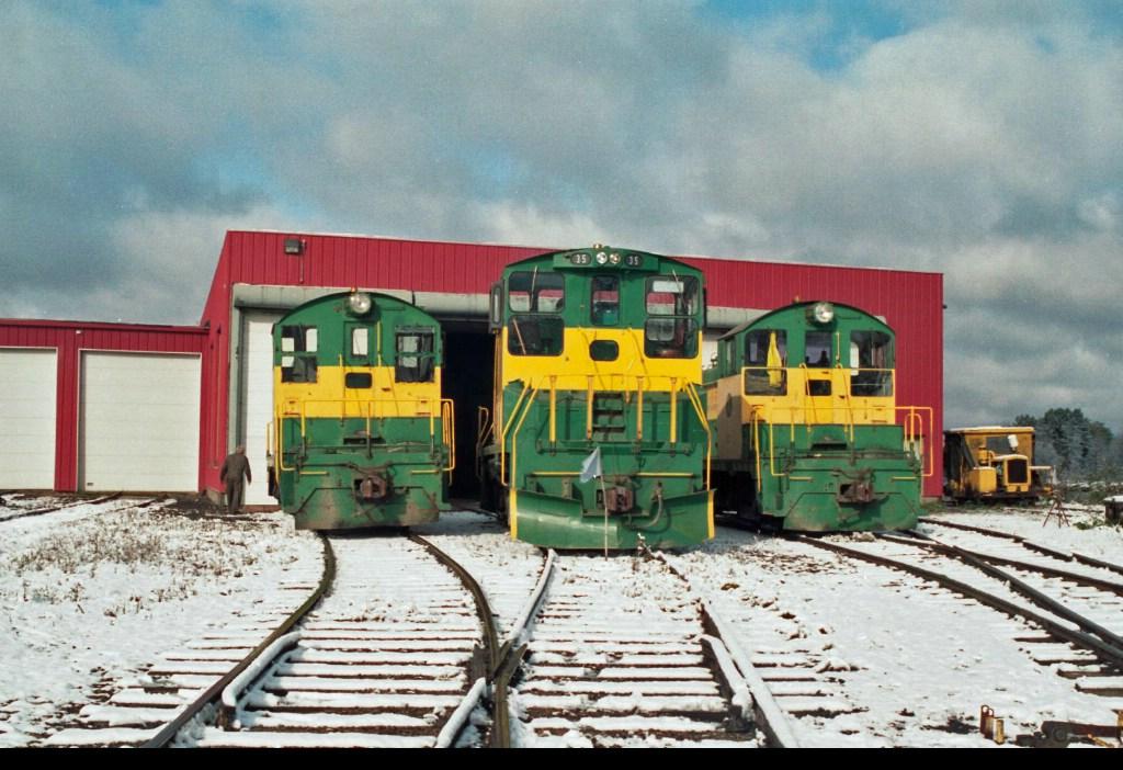 Three of D&NE's locomotive fleet
