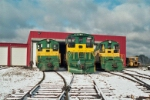 Three of D&NE's locomotive fleet
