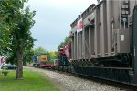 CSX 2732 drops off a power transformer in Wyckoff Sept. 2013