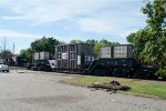 Heavy duty depressed center flat car with a transformer load at Wyckoff Station, 9-15-13