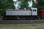 NYS&W Alco S-2 #206 at Maywood Station as a static display.