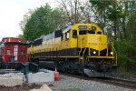 NYSW 3802 passes Hot Dog Caboose