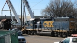 CSX 6137 moving Frisco 4018 (2-8-2) to save it from scrap yard
