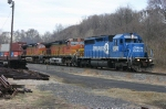 NS EB i4Z @ 0727 hrs. Two BNSF Units Trailing Ex-Conrail