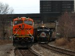 BNSF 8288 K139-02 and NS 1070 67W