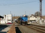 The Conrail Heritage Unit crossing 8th Street