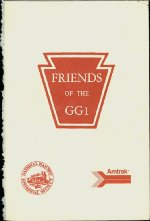 "Back cover of ""The Friends of the GG1"" dedication program"